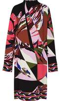 Emilio Pucci Oversized Printed Crepe Dress