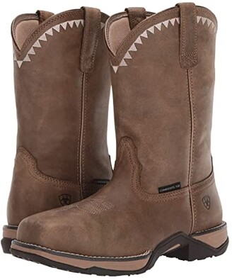 Ariat Anthem Deco Composite Toe (Brown Bomber) Women's Work Boots