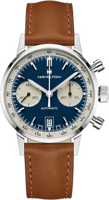 Hamilton American Classic Automatic Chronograph Leather Strap Watch, 40mm