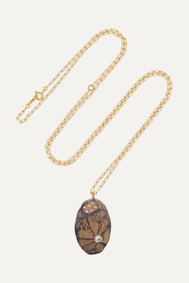 Cvc Stones Ablaze 18-karat Gold, Stone And Diamond Necklace - one size