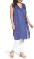 Eileen Fisher Plus Size Women's Organic Handkerchief Linen Tie Waist Tunic