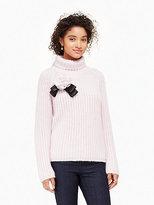 Kate Spade Rosette bow alpaca sweater