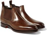 Santoni - Polished-leather Chelsea Boots