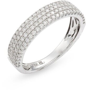 Bony Levy Bardot Wide Band Diamond Ring