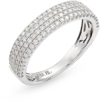Bony Levy Bardot Wide Band Diamond Ring