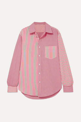 Solid & Striped + Re/done Striped Cotton-poplin Shirt - Red