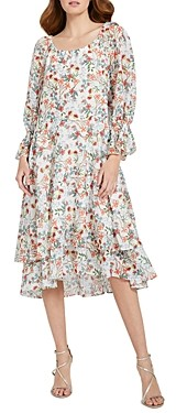 Alice + Olivia Miora Floral Ruffled Dress