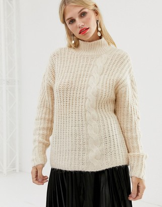 Pieces chunky cable jumper