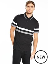 Very Colour Block Jersey Striped Polo