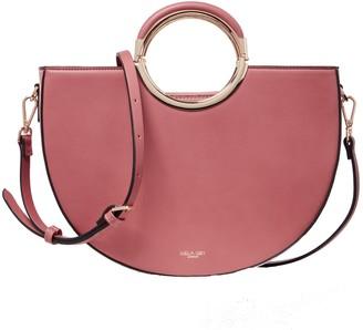 Luella Grey London Elodie Rose Half Circle Multi Compartment Shoulder Bag