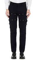 Comme des Garcons Men's Wool Armor-Inspired Slim Trousers-NAVY