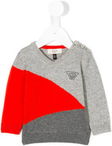Armani Junior colour block jumper - kids - Cotton/Wool - 6 mth