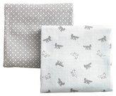 DwellStudio Foxes Orange Graphic Knit Blanket