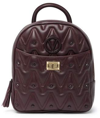 Mario Valentino Valentino By Cosmo D Quilted Leather Backpack