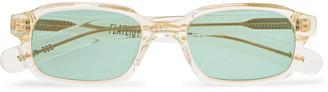 Flatlist Hanky Rectangle-Frame Acetate Sunglasses
