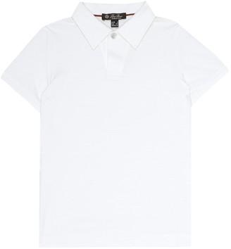 Loro Piana Kids Open cotton-pique shirt