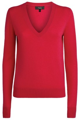Theory V-Neck Cashmere Sweater