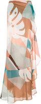 Adriana Degreas printed maxi skirt