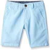 Nautica Big Boys' Flat Front Oxford Short with Pocket