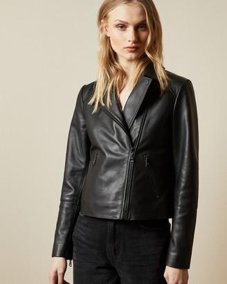Ted Baker JANEAL Leather biker jacket