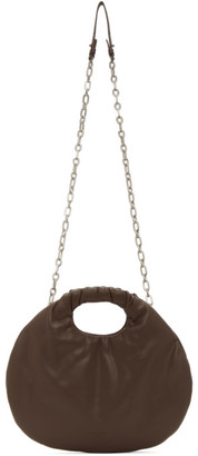 Low Classic Brown Faux-Leather Egg Bag