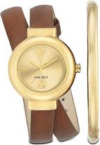Nine West Kiersties Double Wrap Watch and Bracelet Set