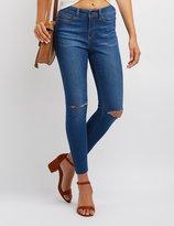 Charlotte Russe Slit Knee Skinny Jeans