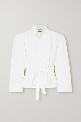 ÀCHEVAL PAMPA Lucero Belted Stretch-twill Coat - White