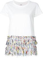 Coohem fringed T-shirt - women - Cotton - 36