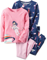 Carter's Toddler Girls' 4-Pc. Pretty Astronaut Pajama Set