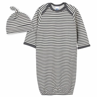 Grow by Gerber Baby Boys Organic 2-Piece Gown and Cap Set