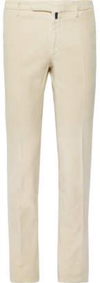 Incotex Slim-Fit Garment-Dyed Stretch-Cotton Moleskin Trousers