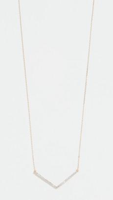 Adina Reyter 14k Large Pave V Necklace