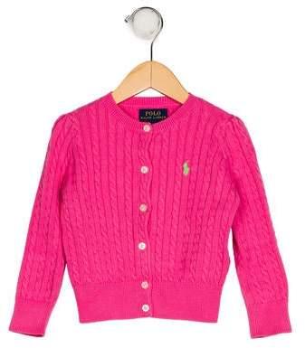 Polo Ralph Lauren Girls' Knit Button-Up Cardigan