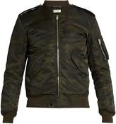 Saint Laurent Camouflage-print bomber jacket