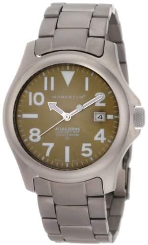 Momentum Men's 1M-SP00G0 Atlas Titanium Watch with Link Bracelet
