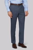 Savoy Taylors Guild Regular Fit Blue Melange Pants