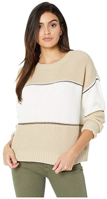 Sanctuary Billie Color-Block Sweater (Modern Beige/White/Black Stripe) Women's Clothing