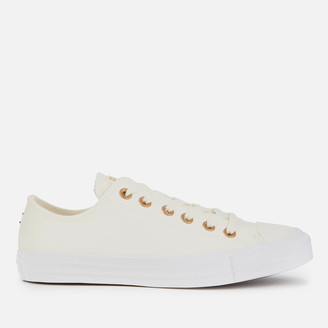 Converse Chuck Taylor All Star Ox Trainers - Egret/Gold/White