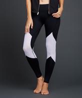 Zobha Black & White Bey Mesh Contrast Leggings