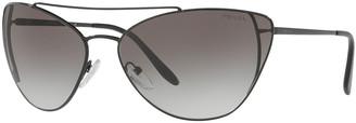 Prada Metal Cat-Eye Sunglasses