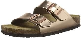 Birkenstock Women's's Arizona Sfb Heels Sandals Grey (Metallic Anthracite) 9 UK 43 EU