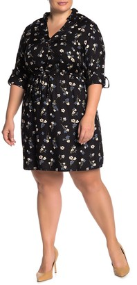 Angie Lace-Up Back Floral Dress (Plus Size)