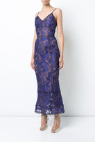 Marchesa Sleeveless Guipure Dress