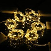 SUPERNIGHT 6 Pack Battery Operated Led String Lights, Tiny Micro LED Satrry Light String, 3.5ft 20 LED Waterproof Copper Wire Lights for Decoration(Warm White)