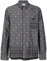 Sacai Pineapple drawstring hem shirt - men - Cotton - 2