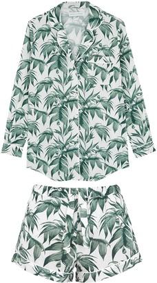 Desmond & Dempsey Byron printed cotton pyjama set