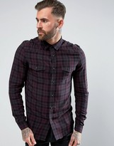 Asos Regular Fit Western Check Shirt In Viscose