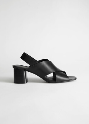 And other stories Criss Cross Heeled Leather Sandals