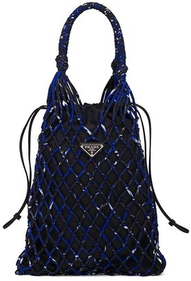 Prada Printed Nylon Mesh Bag